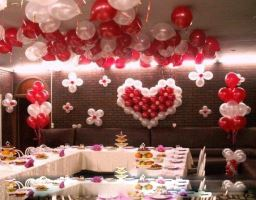 Романтическое оформление свадеб воздушными шарами