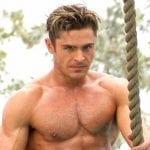 """Зак Эфрон демонстрирует мускулатуру на съемках фильма """"Спасатели Малибу"""""""